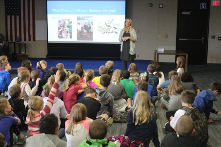 Author Visit at Heritage Elementary - my kids' alma mater :) <3